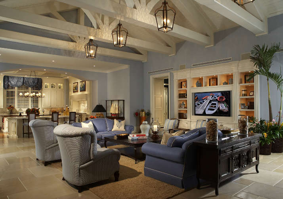 Transitional design interior design firm south florida Palm beach interior designers